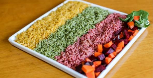 Arroz vitaminado colorido